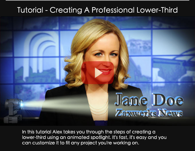 Creating A Professional Lower-Third