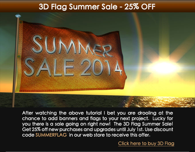 3D Flag Summer Sale