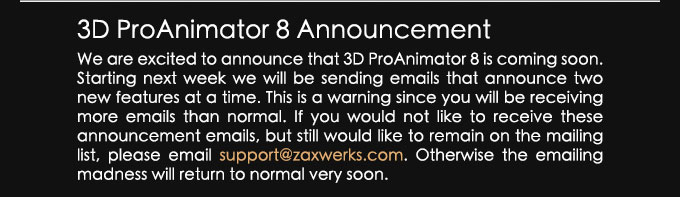 ProAnimator Announcement