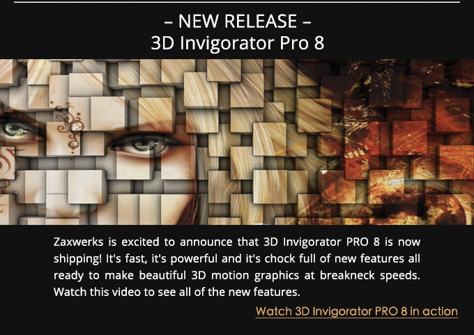 3D Invigorator 8 Released